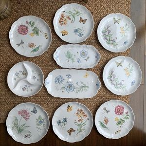 LENOX Butterfly Meadow Hydrangea 10 pc Dinner set